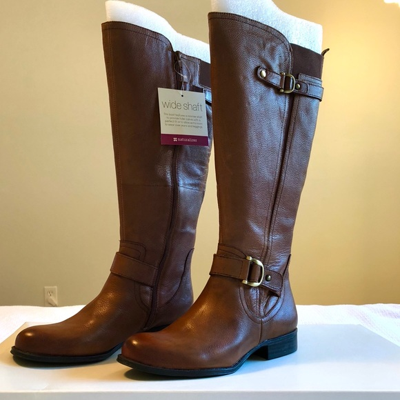 fd2b6a36a34 NWT Wide Shaft Leather Boots